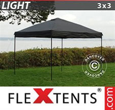 Pikateltta FleXtents Light 3x3m Musta