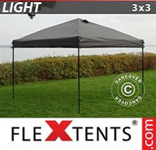 Pikateltta FleXtents Light 3x3m Harmaa